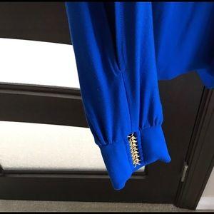 Cache Tops - Royal blue long sleeve top